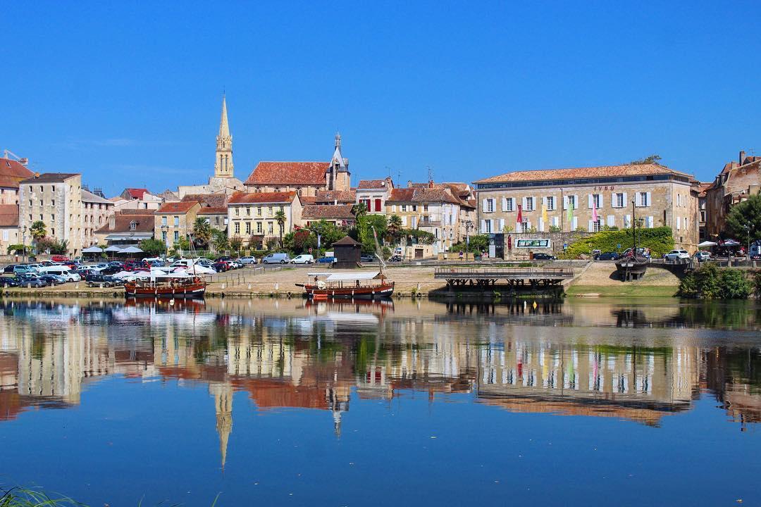 Vue sur les quais de Bergerac